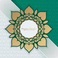 Premium Mandala goldenes Muster Design vektor
