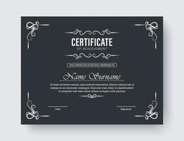klassiska certifikat för prestationsmall vektor