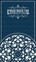 dekorativ mall för dekorativ mandala bakgrundsmall vektor