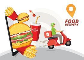 Design des Lebensmittel-Lieferservices