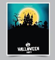 Halloween Nacht Party Hintergrund mit Vollmond vektor