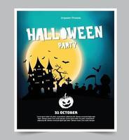Halloween Nacht Party Hintergrund mit Vollmond