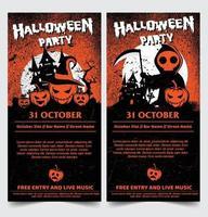 Halloween Nacht Party Hintergrund mit Vollmond gesetzt vektor
