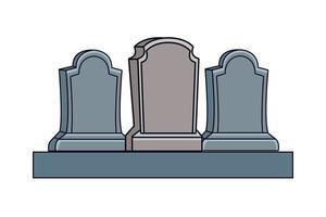 Friedhofsgräber isolierten Ikonen vektor