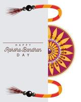 Indien Raksha Bandhan Blumendekoration vektor