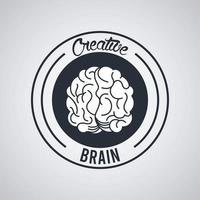 kreativ hjärncirkel tätning stämpel vektor