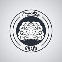 kreativa hjärncirkel stämpel tätning vektor