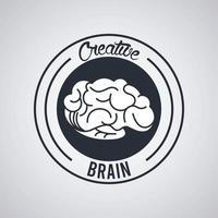 kreativ hjärntätning stämpel cirkel vektor