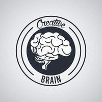 kreativ hjärnstämpel tätning cirkel vektor