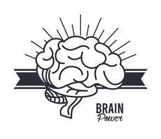 hjärnkraft i bandram vektor