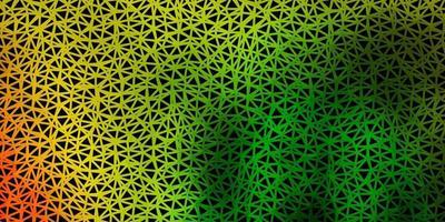 hellgrüne, rote Vektor-Poly-Dreieck-Textur. vektor