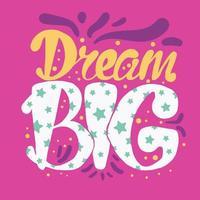 motivation och drömbokstäver koncept vektor