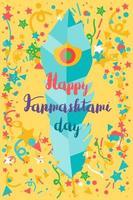 Happy Janmashtami Day Banner vektor
