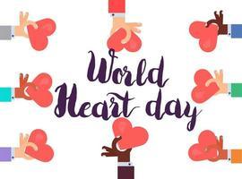 världshjärtadagen vektor