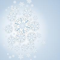 Jul snöflingor vektor