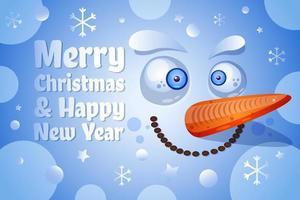 Frohe Weihnachten und ein frohes neues Jahr Grußkarte Vektor Vorlage