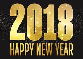 Golden Happy New Year bakgrund