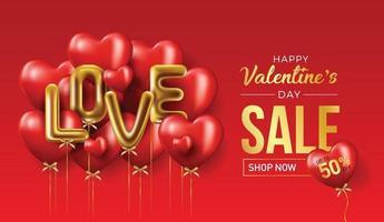 glückliche Valentinstag Vektor Banner Grußkarte