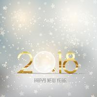 Gott nytt år bauble bakgrund vektor