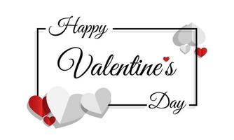 glad Alla hjärtans dag med ram och kärlek. vektor mall alla hjärtans dag.