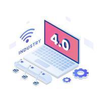 Industrie 4.0 Vektor isometrische Illustration Konzept