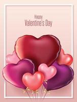 glad Alla hjärtans dag banner vektor
