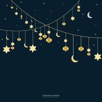 ramadan hängande ornament bakgrund. vektor