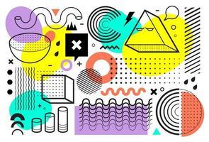 Memphis Style Vektorgrafiken
