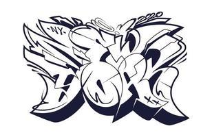 new york graffiti vilda stil bokstäver vektor