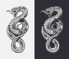 Schlangenvektor isoliert vektor