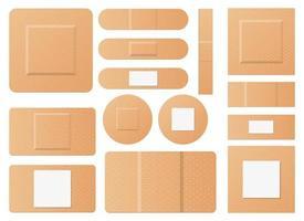Satz medizinische Patches Vektor-Design-Illustrationssatz isoliert auf weißem Hintergrund vektor