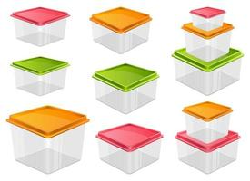 Lebensmittelbehältervektorentwurfsillustration lokalisiert auf weißem Hintergrund vektor