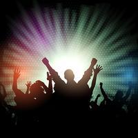 Party Menge auf Starburst Hintergrund vektor