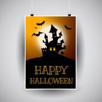 Halloween-Fliegerdesign vektor