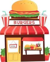 Cartoon Burger Shop vektor