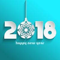Gott nytt år bakgrund med hängande bauble