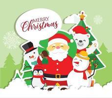 jul bakgrund med jultomten vektor