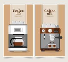 kaffebryggare banner set vektor