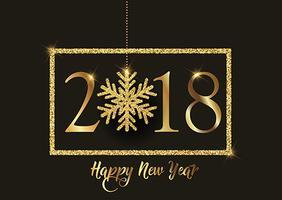 Guten Rutsch ins Neue Jahr-Hintergrund mit glittery Schneeflocke