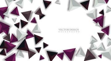 Design Dreieck Form 3d realistisch. futuristischer Raum. vektor