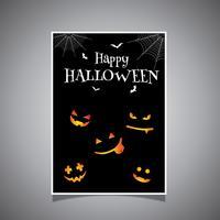 Halloween Hintergrunddesign vektor