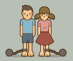 Stop Kindesmissbrauch Design vektor