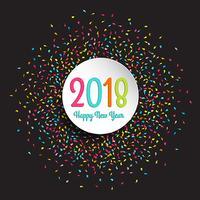Gott nytt år konfetti bakgrund