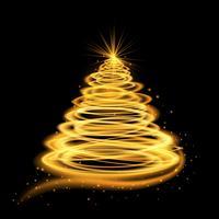Gold glühender Weihnachtsbaum