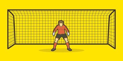 Torwart Fußballspieler vektor