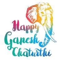 Happy Ganesh Chaturthi vektor