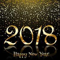 Guten Rutsch ins Neue Jahr-Hintergrund mit Goldsternen vektor