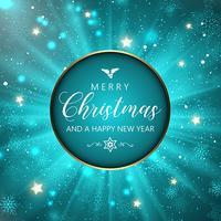 Jul och nyår snöflingor bakgrund vektor