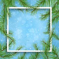 Weihnachtshintergrund mit Tannenbaumasten vektor