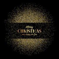 Weihnachts- und des neuen Jahreshintergrund mit Goldfunkeln